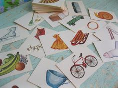 Vintage  Group of 75 Illustrated Game Cards by ShaneLilyRain, $6.50
