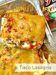"""This shop has been compensated by Collective Bias, Inc. and its advertiser. All opinions are mine alone. #CampbellSavings #CollectiveBias This easy to make taco lasagna has all the classic taco flavors in the form of a tasty lasagna! Scroll down for the delicious recipe the whole family will love! Growing up, I remember that before the school year started, my mom would start waking us up early a few weeks before summer ended and she would always say the same thing every morning: """"levantarse ya Hamburger Meat Recipes, Beef Recipes, Cooking Recipes, Budget Recipes, Cooking Ideas, Easy Recipes, Taco Lasagne, Tasty Lasagna, Decks"""