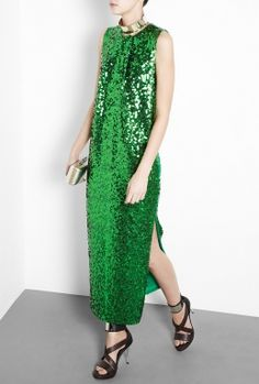 Man that new Muppets movie is a joy. Gown in honor of Kermie green. Sequins!