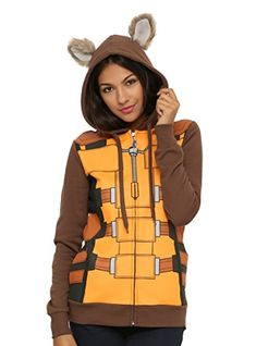 Marvel Guardians Of The Galaxy Rocket Raccoon Girls Hoodie @ niftywarehouse.com