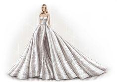 Así es el boceto del vestido de novia de Sofía Vergara