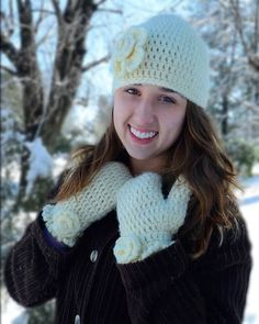 Maggie's Crochet · Beginner Hat and Mitten Set Crochet Pattern