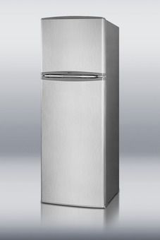 FF1325SS - Frost-free refrigerator-freezer in platinum and stainless steel finish with 10.1 cu.ft. capacity