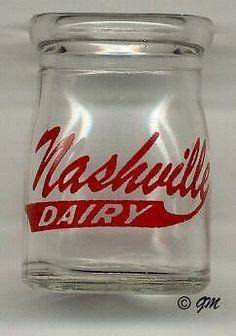 Nashville Dairy 3/4 oz. Glass Creamer Bottle