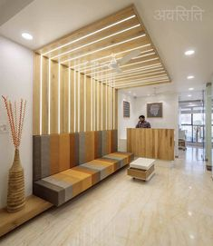 reception waiting area design minimalistic and Simplistic Office Interiors