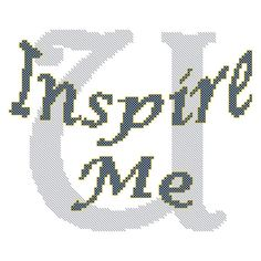 U Inspire Me Cross Stitch Pattern for 8 x by oneofakindbabydesign, $3.95 couple sayings