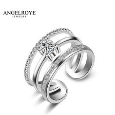 Joias Bague 925 En Argent Anel Anillos Silver Ring Bijoux Jewelry Rings For Women Aneis Multilayer Femme Feminino 2017 New Hot