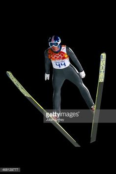 Anders Bardal of Norway jumps during the Men's Normal Hill Individual first round on day 2 of the Sochi 2014 Winter Olympics at the RusSki Gorki Ski...