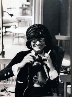 Coco Chanel with Camera, photographed by Hatami (sometimes I feel like people pin things just for me!)