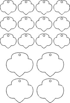 template for shrinky dink trefoils (Girl Scout craft or swap idea)