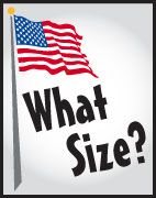 How big should your flag be?  Find out here.