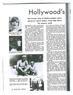Whitley Heights - About Hooray For Hollywood, Hollywood Hills, Weird Stories, Ghost Stories, Rudolph Valentino, Hollywood Celebrities, Vintage Hollywood, How To Memorize Things, Ghosts
