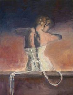 "Saatchi Art Artist Ellen Fasthuber-huemer; Painting, ""Das Mieder"" #art Elf, New Art, Oil On Canvas, Saatchi Art, Original Paintings, Artist, S Pic, Bodice, Artists"