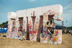 - Glastonbury Festival - Wikipedia, the free encyclopedia Festival Themed Party, Eid Festival, Visual Merchandising, Coachella, Pop Up, Edm Music Festivals, Isle Of Wight Festival, Large Letters, 3d Letters