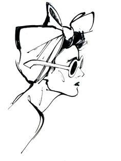 TSUM optics launch 2008 by Alena Lavdovskaya, via Behance Illustration Pen And Ink, Pretty Drawings, Character Sketches, Design Art, Graphic Design, Fashion Art, Retro Fashion, Poster Prints, Poster