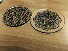 Acrylic coaster laser cut and uv printing