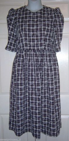 "Amish Mennonite Modest Handmade Cape Dress 40"" Bust /34"" Waist"