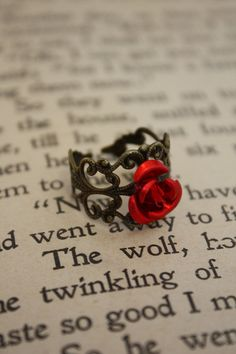 Fairy Tale Rose Ring from Etsy