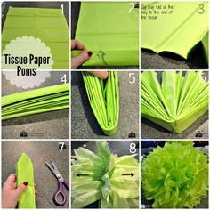 DIY Tissue Paper Poms - 100 Things 2 Do