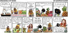 Breaking Cat News by Georgia Dunn for Nov 19, 2017 | Read Comic Strips at GoComics.com