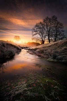 The stream sunrise by SC Pictures* on 500px.com ○ Canon EOS 6D, f/10, 1/8s, 17mm, iso50, 800-1200 px, rating:99.8