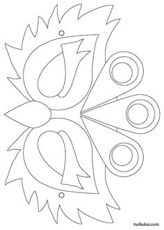 Masque à imprimer en noir et blanc, à colorier puis découper