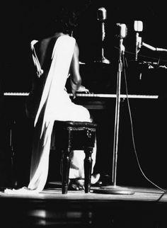 Nina Simone, performing, Town Hall, NYC 1959