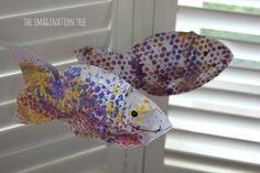 Stuffed bubble wrap fish
