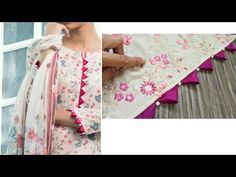 Beautiful sleeve Design making for embroidered or printed fabrics Chudidhar Designs, Chudi Neck Designs, Neck Designs For Suits, Sleeves Designs For Dresses, Blouse Back Neck Designs, Neckline Designs, Sleeve Designs, Fancy Dress Design, Stylish Blouse Design