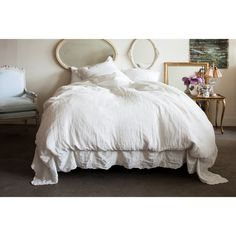 Rachel Ashwell Shabby Chic Couture Linen Embroidered Bedding Collection