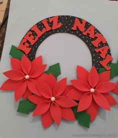 Mika Crafts - Wats Christmas Wreaths in EVA Christmas Crafts For Adults, Felt Christmas Decorations, Xmas Ornaments, Christmas Art, Christmas Wreaths, Disney Christmas Ornaments, Fish Crafts, Craft Stick Crafts, Diy And Crafts