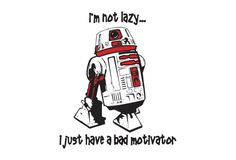Poor R5-D4, bad motivator allegedly the result of sabotage by R2-D2…at least it resulted in him living a more exciting life as intelligence gatherer for the Alliance as opposed to being stuck on Tatooine forever…