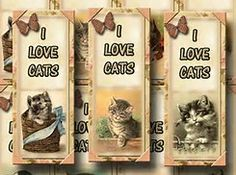 Image result for Cute Kitten Printable Bookmarks