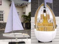 MODEL YACHT NAUTOR SWAN 60The Swan 60 marks a significant milestone in yachting history, on the one hand a stylish and highly-competitive contender boat for the race courses of the world and on the other, a luxurious, high performance cruiser/racer that will cross oceans in comfort.