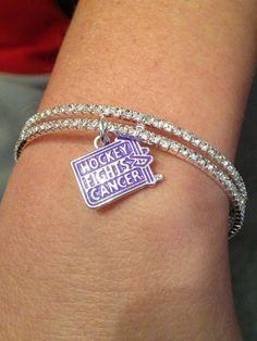NHL Network's Kathryn Tappen shows off her #HockeyFightsCancer bracelet.  Available here: s.nhl.com/pBFGc.
