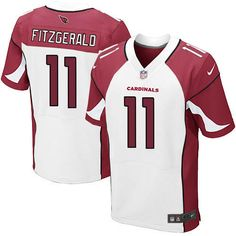 Mens Nike Arizona Cardinals http://#11 Larry Fitzgerald Elite White Jersey