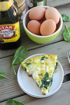 Spinach, Artichoke & Sun-Dried Tomato Frittata | Bake Your Day