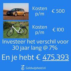 Fietsen. Het is beter voor je gezondheid en je beurs! Je ziet ze steeds meer als vervanger voor de gewone fiets zonder elektrische motor. De Ebike tot 25 km/h, maar ook Speed Pedelec tot 45 km/h (met helm). Uit onderzoek van het Centraal Bureau voor de Statistiek (CBS) bleek dat Nederlanders gemiddeld 22,6 kilometer van hun werk wonen. Dit is voor een grote groep mensen goed te doen met een Ebike of een Speed Pedelec. #besparen #slimmermetgeld #persoonlijkefinanciën E 500