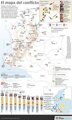 El mapa del conflicto colombiano | EL PAIS