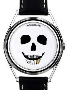 Think differently about your time with The Last Laugh watch. The skull design is linked to the tradition of memento mori It's a unique watch, designed to remind you that life is brief and you should live it to the full. Best Watches For Men, Cool Watches, Unusual Watches, Memento Mori, Dezeen Watch Store, The Last Laugh, Modern Watches, Watch Faces, Skull And Bones