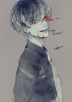 Sasaki Haise ||| Tokyo Ghoul: Re Fan Art by Sui Aofuji on Twitter
