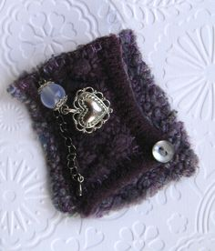 Felted wool brooch