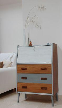 bespoke upcycled mid century retro furniture sideboard writing bureau chair bookcase dressing drawers cambridge UK