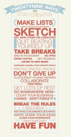 Take time to create ♥ ♥ ♥
