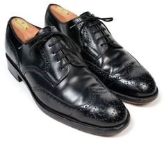 TOD'S Black Wingtip Oxford Mens Dress Shoes ITALY Size UK 8.5 US 9 / 9.5 #Tods #Oxfords #shoes #tailoredconsignment