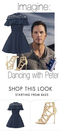 """""""Peter Q."""" by fangirlingciera ❤ liked on Polyvore featuring self-portrait, Sergio Rossi, dance, guardiansofthegalaxy and peterquill"""