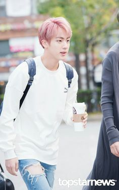 Jin ❤ BTS Arrival at KBS Music Bank (Comeback stage today) #BTS #방탄소년단