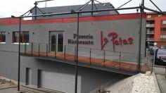 Pizzeria Ristorante La Patas - nerezová korpusová písmena, podsvícená LED - Brno