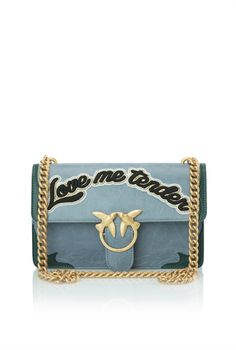 Pinko Distressed-look <b>leather shoulder bag</b>