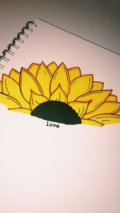 sunflower drawing - Drawing Tips Drawing Tips Cute Easy Drawings, Cool Art Drawings, Pencil Art Drawings, Art Drawings Sketches, Easy Flower Drawings, Sunflower Drawing, Sunflower Art, Drawing Quotes, Drawing Tips